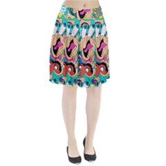 Cartoons Funny Face Patten Pleated Skirt