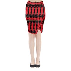 ANCIENT DIVIDE Midi Wrap Pencil Skirt