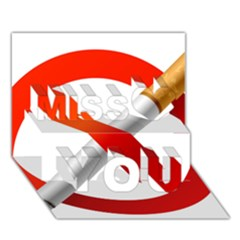 Cigarette Miss You 3D Greeting Card (7x5)