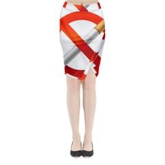 Cigarette Midi Wrap Pencil Skirt