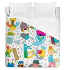 Colorful Cartoon Funny People Duvet Cover (queen Size)