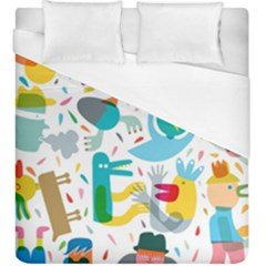 Colorful Cartoon Funny People Duvet Cover (king Size)
