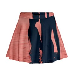 Couple In Love Beach Mini Flare Skirt