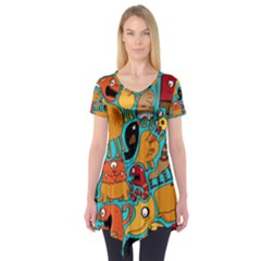 Creature Cluster Short Sleeve Tunic