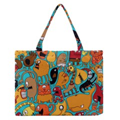 Creature Cluster Medium Zipper Tote Bag
