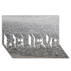Pebble Beach Photography Ocean Nature BELIEVE 3D Greeting Card (8x4)