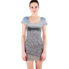 Pebble Beach Photography Ocean Nature Short Sleeve Bodycon Dress