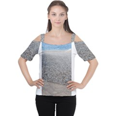 Pebble Beach Photography Ocean Nature Women s Cutout Shoulder Tee