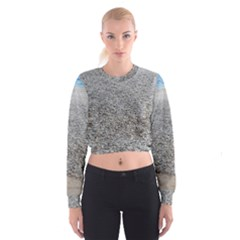 Pebble Beach Photography Ocean Nature Women s Cropped Sweatshirt