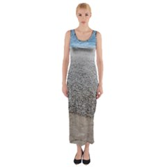 Pebble Beach Photography Ocean Nature Fitted Maxi Dress