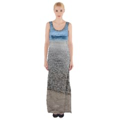 Pebble Beach Photography Ocean Nature Maxi Thigh Split Dress