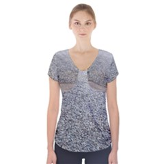Pebble Beach Photography Ocean Nature Short Sleeve Front Detail Top