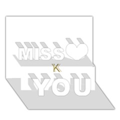 Monogrammed Monogram Initial Letter K Gold Chic Stylish Elegant Typography Miss You 3d Greeting Card (7x5)