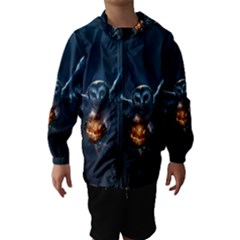Owl And Fire Ball Hooded Wind Breaker (Kids)