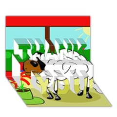 Urban sheep THANK YOU 3D Greeting Card (7x5)