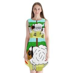 Urban Sheep Sleeveless Chiffon Dress