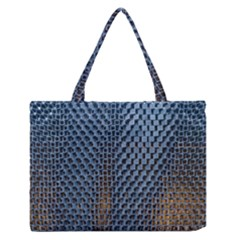 Parametric Wall Pattern Medium Zipper Tote Bag