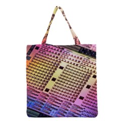 Optics Electronics Machine Technology Circuit Electronic Computer Technics Detail Psychedelic Abstract Grocery Tote Bag