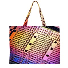 Optics Electronics Machine Technology Circuit Electronic Computer Technics Detail Psychedelic Abstract Large Tote Bag