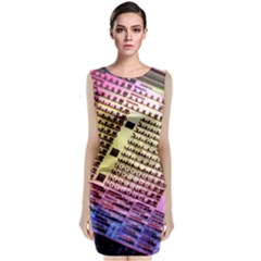 Optics Electronics Machine Technology Circuit Electronic Computer Technics Detail Psychedelic Abstract Classic Sleeveless Midi Dress