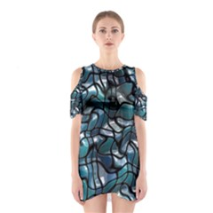 Old Spiderwebs On An Abstract Glass Cutout Shoulder Dress
