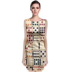 Old Domino Stones Classic Sleeveless Midi Dress