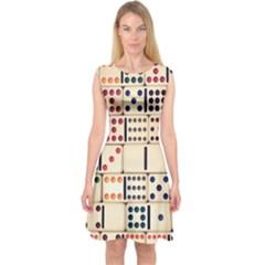 Old Domino Stones Capsleeve Midi Dress