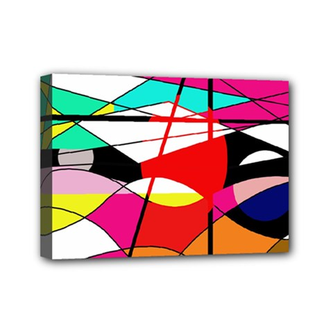 Abstract waves Mini Canvas 7  x 5
