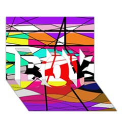 Abstract waves BOY 3D Greeting Card (7x5)