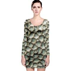 Ocean Pattern Long Sleeve Bodycon Dress