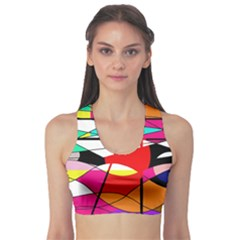 Abstract waves Sports Bra