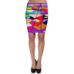 Abstract waves Bodycon Skirt