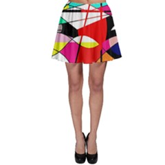 Abstract waves Skater Skirt