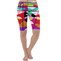 Abstract waves Cropped Leggings