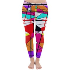 Abstract waves Winter Leggings
