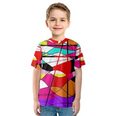 Abstract waves Kids  Sport Mesh Tee
