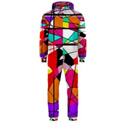 Abstract waves Hooded Jumpsuit (Men)