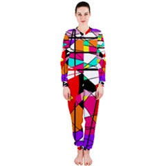 Abstract waves OnePiece Jumpsuit (Ladies)