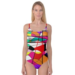 Abstract waves Camisole Leotard