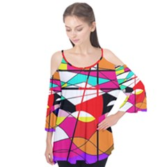 Abstract waves Flutter Tees
