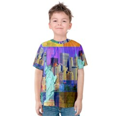 New York City The Statue Of Liberty Kids  Cotton Tee