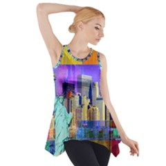 New York City The Statue Of Liberty Side Drop Tank Tunic