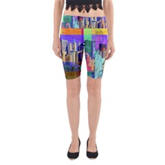 New York City The Statue Of Liberty Yoga Cropped Leggings