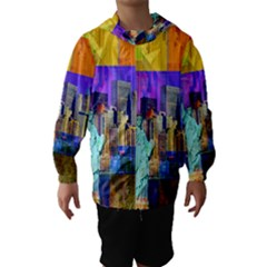New York City The Statue Of Liberty Hooded Wind Breaker (Kids)