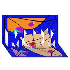 Decorative abstract art MOM 3D Greeting Card (8x4)