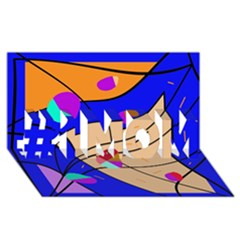 Decorative abstract art #1 MOM 3D Greeting Cards (8x4)