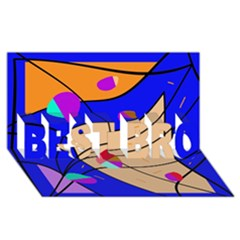 Decorative abstract art BEST BRO 3D Greeting Card (8x4)