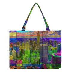 New York City Skyline Medium Tote Bag