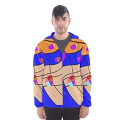 Decorative abstract art Hooded Wind Breaker (Men)