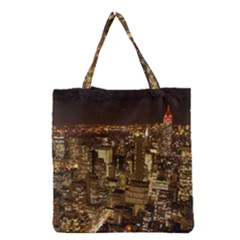 New York City At Night Future City Night Grocery Tote Bag